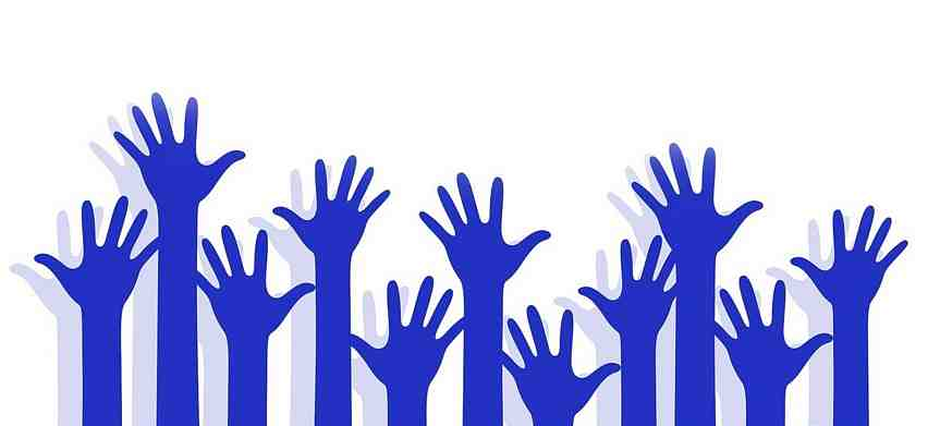 volunteer hands-up